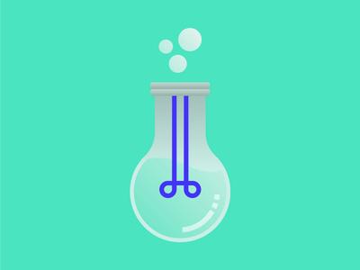 Lightbulb Beaker icon beaker lightbulb pharma
