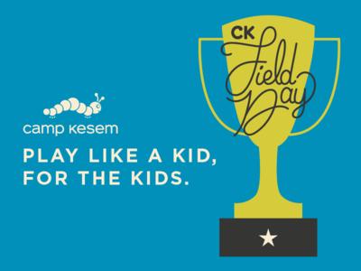 CK Field Day 2018 field day branding illustration camp kesem non profit