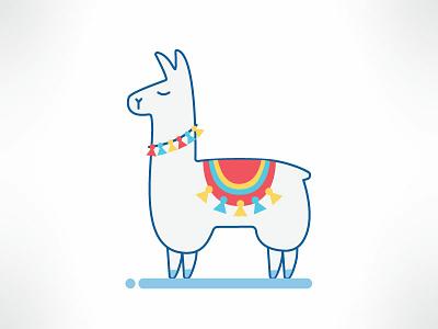 Alpaca illustrator happy colorful icon illustration alpaca