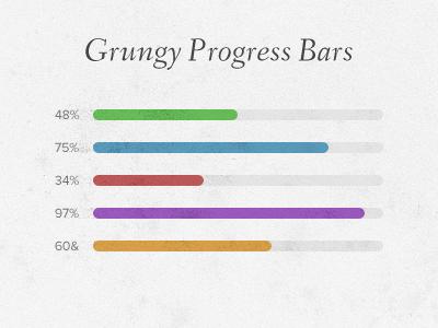 Grungy Progress Bars bars cindy element grunge grungy liam mckay progress skindy ui