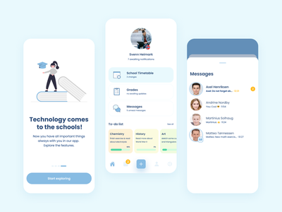 📚Norway School App 🇳🇴 study ui ux interface product ios dashboard trends dribbble best shot 2021 trend educational app learning app popular shot learning teacher student lessons norway school learning platform