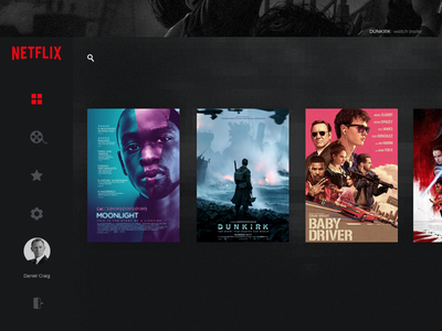 Daily UI #025 - TV App cinema movies panel tv app ux design smart tv app tv form daily daily ui
