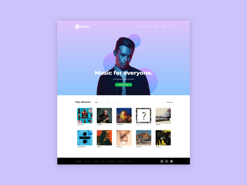💽 Spotify Homepage