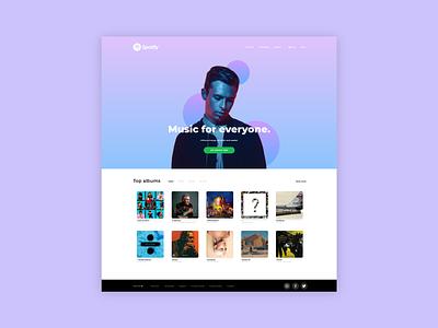 💽 Spotify Homepage landing designer logo ux concept dailyui web design webdesign web design daily ui daily ui music album music landing page landingpage