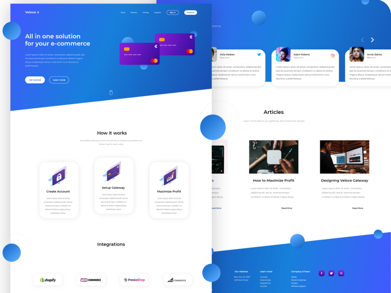 🛒 💳 Veloce - Payment Gateway Landing Page for e-commerce