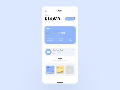 Finance App - Bank features + Goals app dailyui concept ui ux design daily daily ui financial finance app bank finance