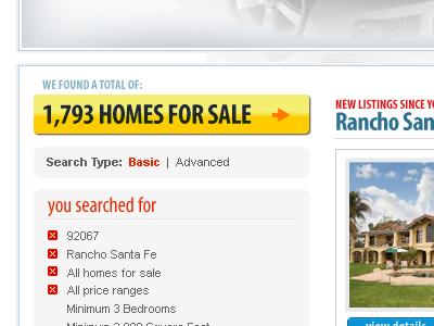 Real Estate (Faceted Search Filters)