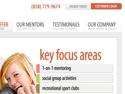 ExciteSteps.com (Homepage Redesign)