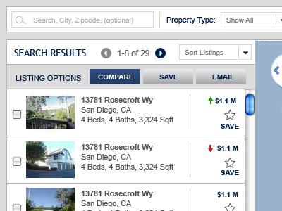 Search Results (progressive enhancement on click compare)