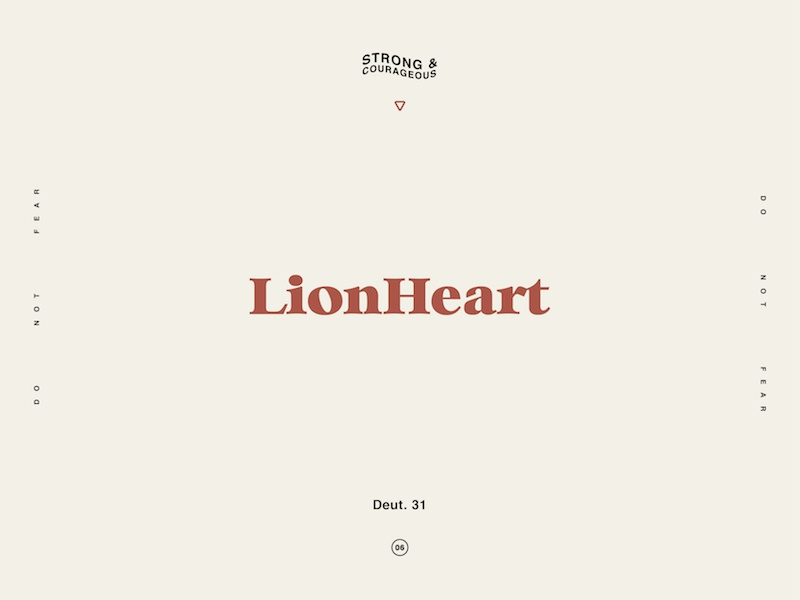 Lionheart type illustrate design scripture typography logo brand branding