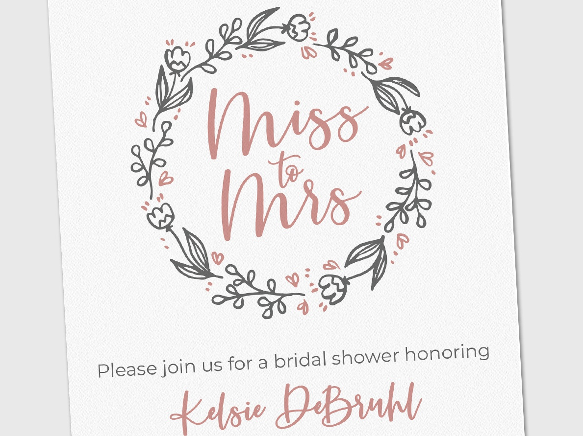Miss to Mrs - Bridal Shower Invite stationery design stationery wedding designs wedding design wedding stationery wedding bride bridal shower invite bridal shower