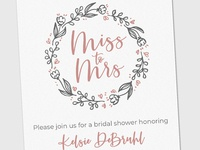 Miss to Mrs - Bridal Shower Invite