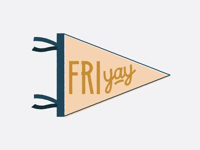 Fri-yay! hand drawn vector design pennant design pennant friyay friday