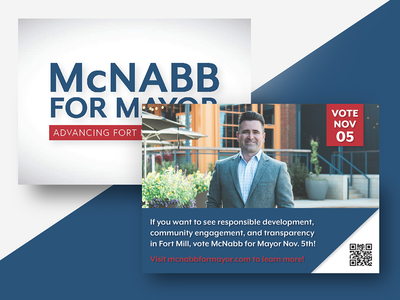 Mcnabb for Mayor Postcard