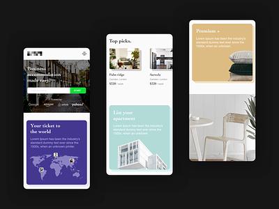 Enterprise Travel | Mobile enterprise layout design hotel travel ux ui mobile