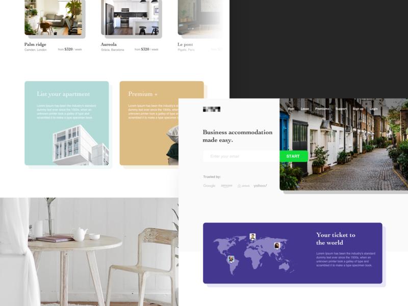 Enterprise Travel   Desktop web design airbnb hotel desktop web enterprise design ui travel layout