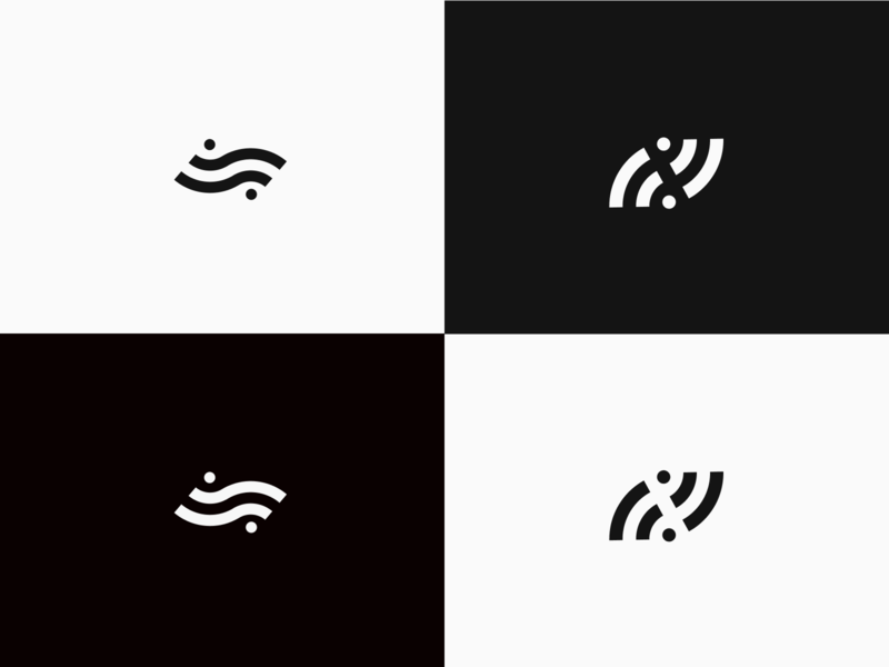 Remote logo mark minimal simple concept collaboration team design ideas wip remote wifi brand mark negative space concepts branding logo