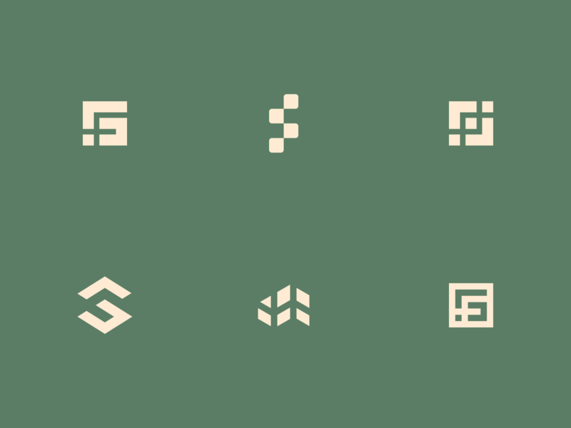 Square Foot monogram symbol letters sf logo f logo s logo logo design branding brand mark simple shape initials ideas logo design sf square housing concept logos