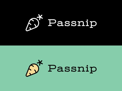 Passnip.com logotype brandmark icon cartoon simple webapp generator passphrase password branding logo