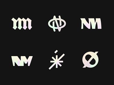 More brandmark exploration n m o nm no minimal branding design simple brand mark logo