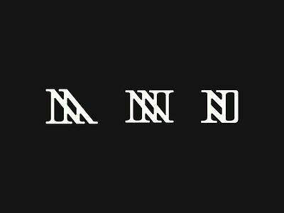 Yet more brandmark exploration letter design lettermark branding simple logo brandmark no o m n