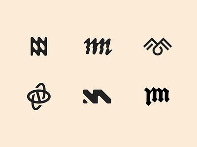 Even more brand mark explorations logos branding shape simple minimal design logo lettermark letter brandmark o m n