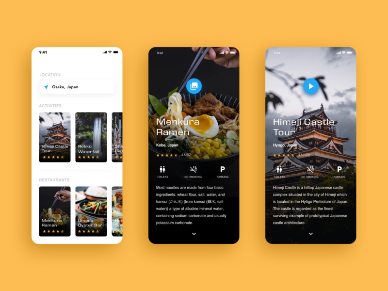 Travel App UI clean mobile design layout travel app app travel ui