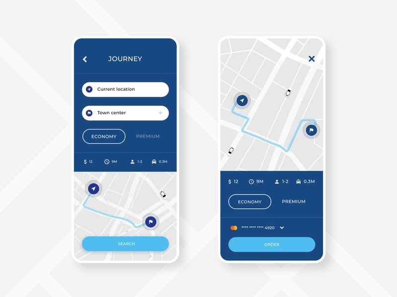 Chariot App order ios android mobile layout app rideshare uber taxi