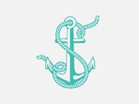 Lettering rope and anchor
