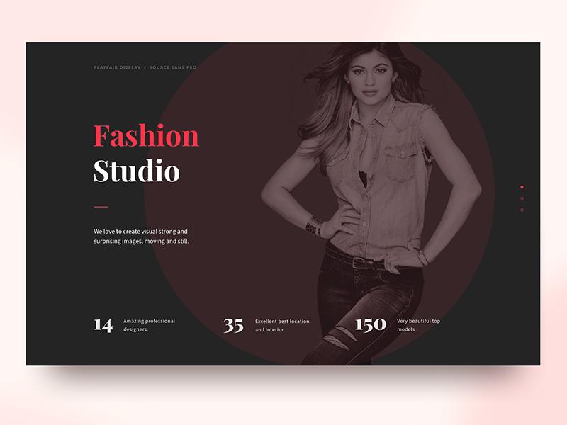 Typography Combination studio fashion color ui web-design typography