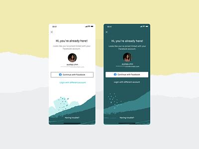 Social login ui app registration experiment textures patterns social login