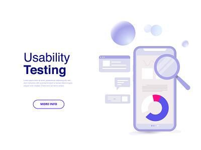 Usability Testing illustration ux ui