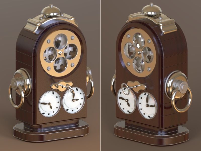 Steampunk Alarm Clock By Andrey Zholudev On Dribbble