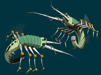 Fantastic Creature (6) insect concept design art surreal 3d imaginary fantasy toon illustration