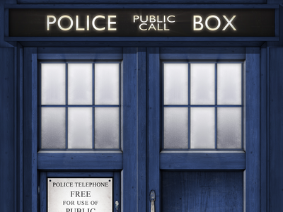 TARDIS Poster by Mike Williamson - Dribbble
