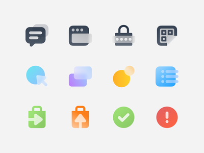 any.market / icons minimal clean product design glyphs promo icons branding design ui