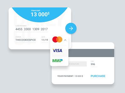 Credit Card Checkout - DailyUI 002 100dayschallenge visa mastercard webdesign design material checkout card credit userinterface ui daiyui