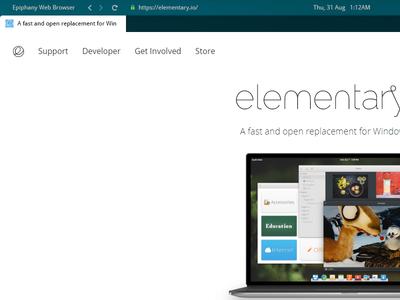 Elementary OS - Browser App epiphany ui experiment app browser linux os elementary os