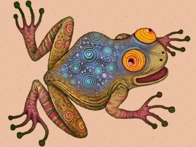 The Klatchian Tree Frog discworld terry pratchett flora and fauna frog illustration