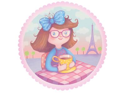 Dear Nanna sweet spring cards little darlings birthday girl cute greeting cards illustration