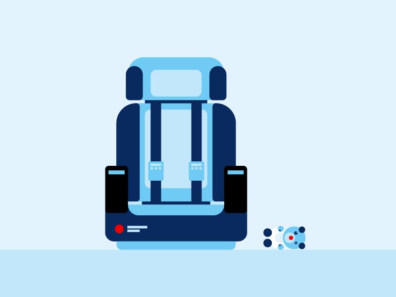 Baby Seat Illustration sinnerschrader vector graphic seat baby kids airplane illustration