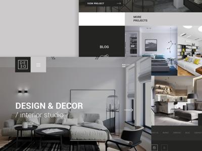 Site about Design & Decor portfolio web ux ui design interior decor