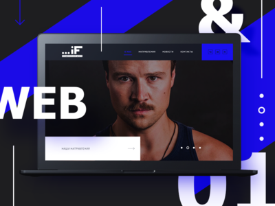 Web design for Acting Agency product dark bright portfolio actors blue interface web site webdesign