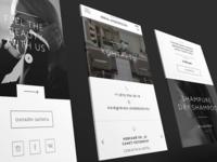 Mobile design minimalistic minimalism white and black beauty uiux mobile app design web