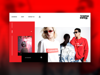 Web site for clothes brand branding site typography white interface ui ux web shop clothes shop e-commerce red swag design agency clothes design