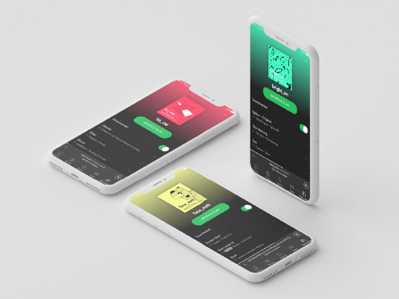 Spotify Playlists Mock Up | Search by Muzli
