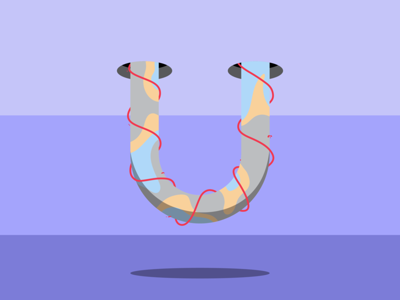 U - 36 Days of Type 36days-u pattern colour shape vector illustration letters typography 36daysoftype
