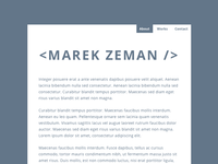 Minimalistic Resume Site