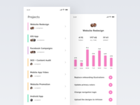 Team time tracking app – projects