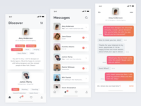 Professional networking app concept